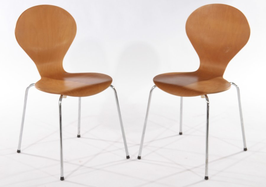 PAIR OF DANISH SIDE CHAIRS BY PHOENIX - 2