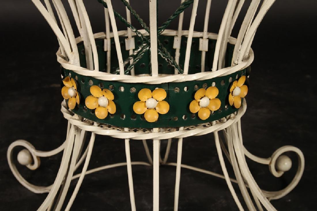 FRENCH WROUGHT IRON GARDEN TABLE CHAIRS 1960 - 5