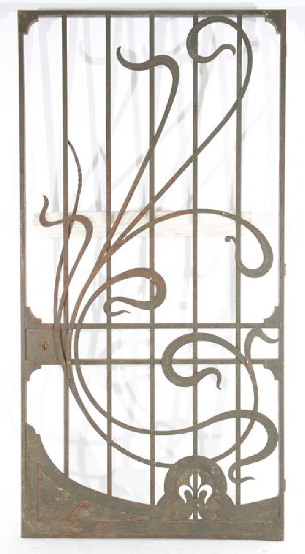 FRENCH WROUGHT IRON DOOR GATE PANEL 1920
