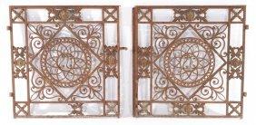 PAIR FRENCH CAST IRON GARDEN GATES CIRCA 1860