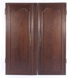 PAIR FRENCH 19TH CENTURY CARVED OAK DOORS
