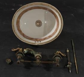 SHERLE WAGNER PORCELAIN SINK AND FAUCET