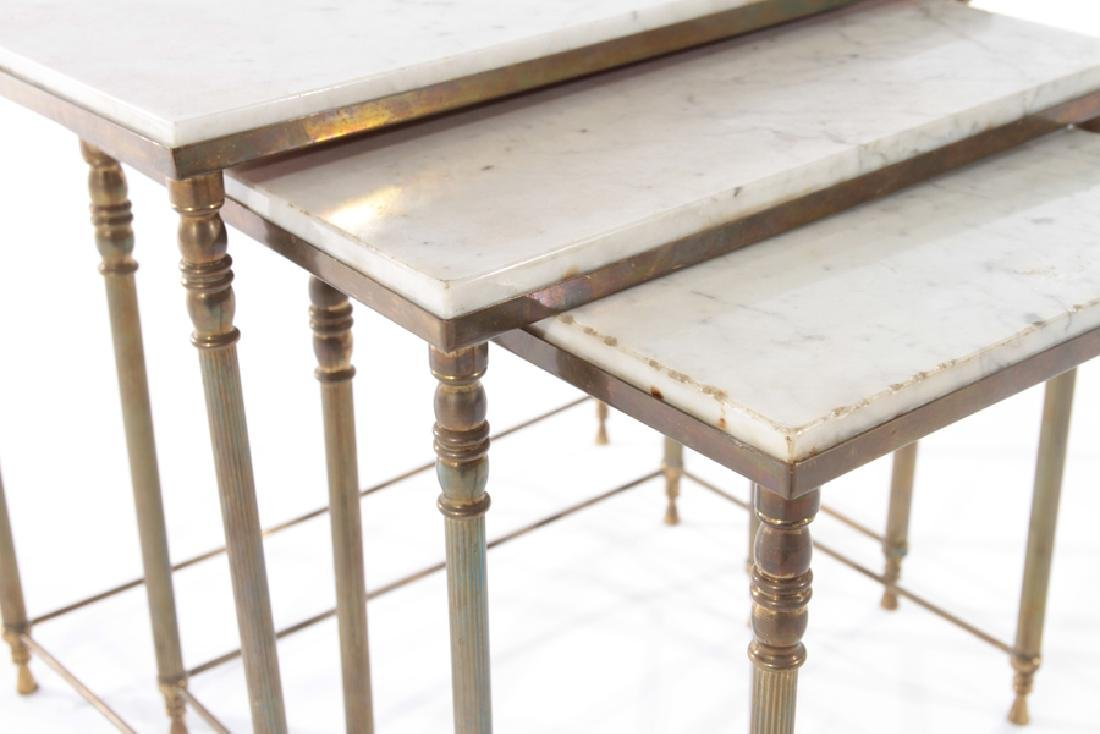 SET OF FRENCH BRASS NESTING TABLES CIRCA 1950 - 4