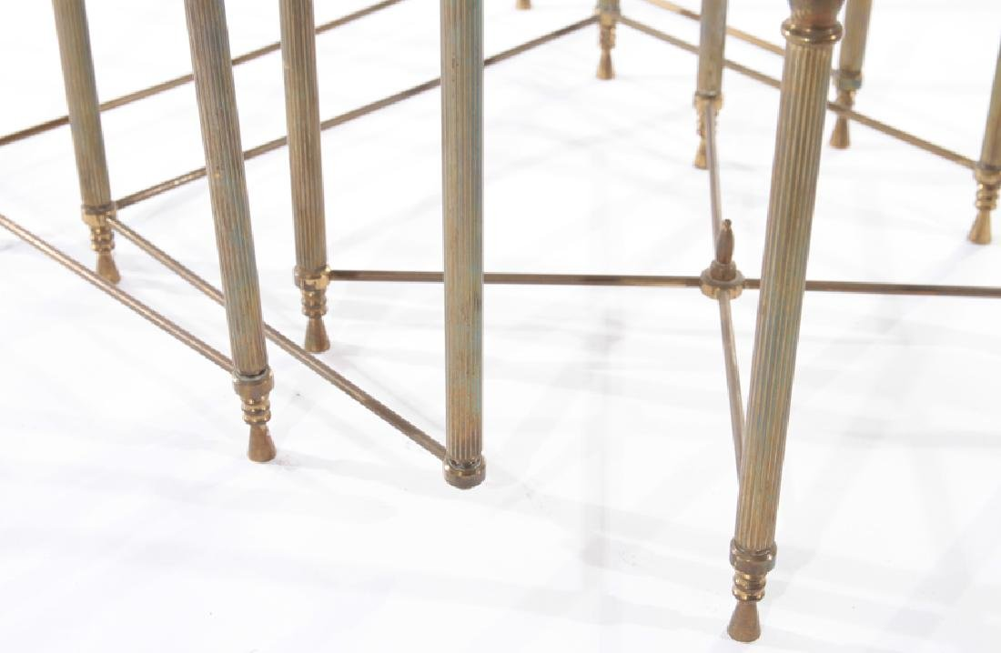 SET OF FRENCH BRASS NESTING TABLES CIRCA 1950 - 5