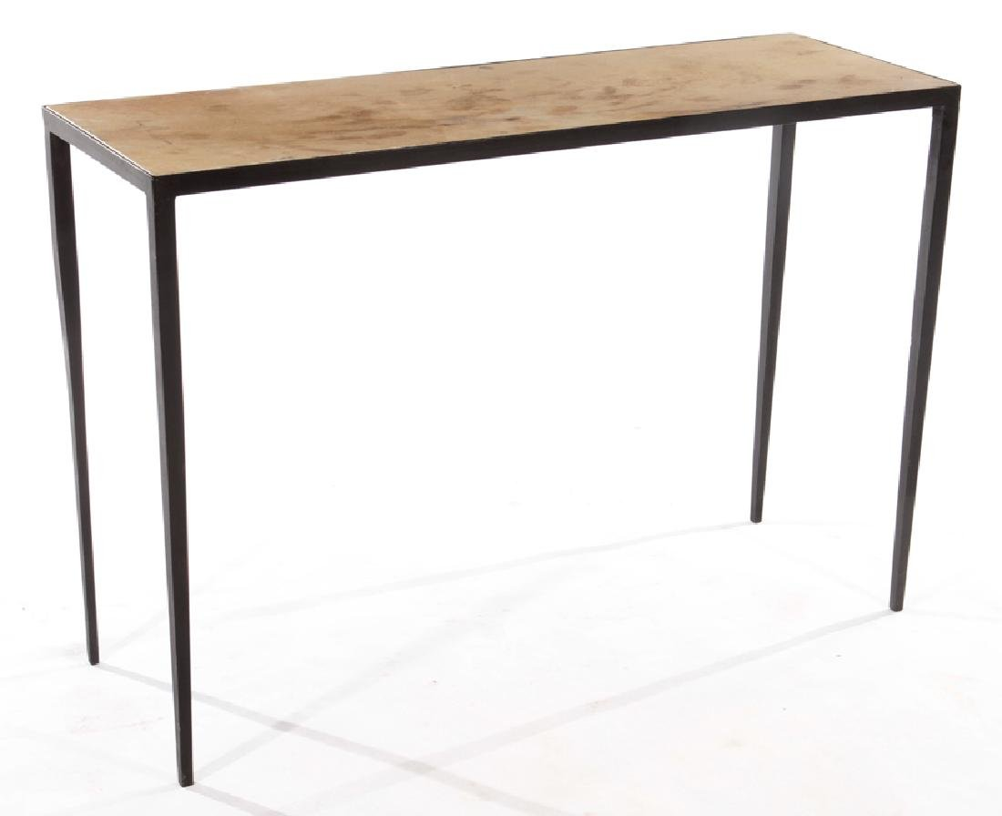 PAIR JEAN-MICHEL FRANK STYLE IRON CONSOLE TABLES - 2