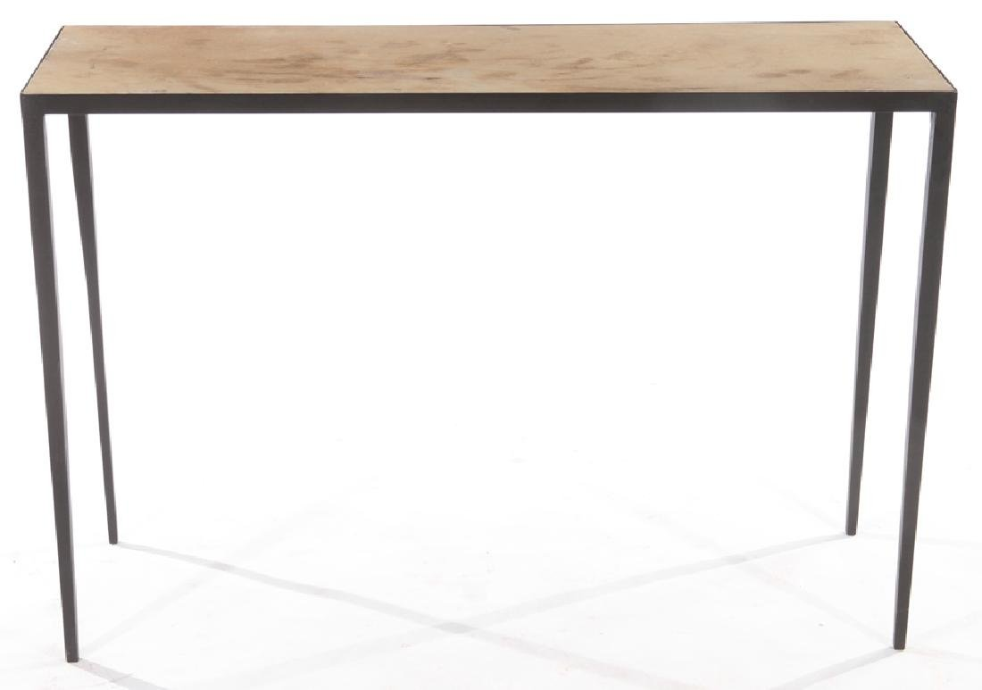 PAIR JEAN-MICHEL FRANK STYLE IRON CONSOLE TABLES - 3