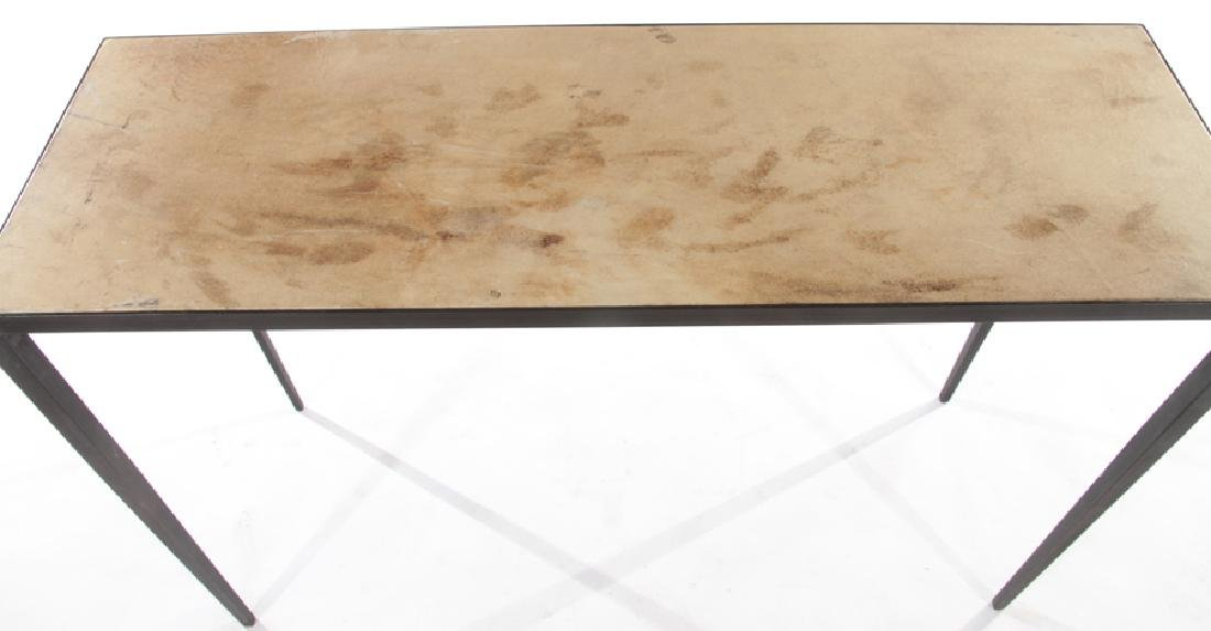 PAIR JEAN-MICHEL FRANK STYLE IRON CONSOLE TABLES - 4