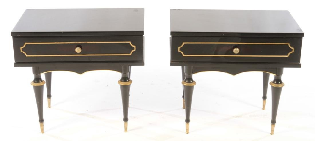PAIR OF BRONZE MOUNTED EBONIZED END TABLES C.1940