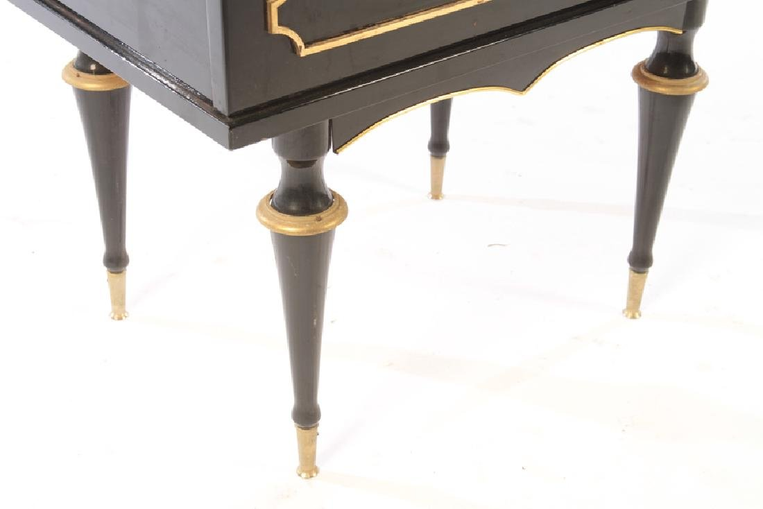 PAIR OF BRONZE MOUNTED EBONIZED END TABLES C.1940 - 6