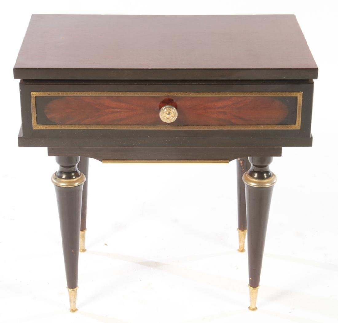 PAIR OF EBONIZED MAHOGANY END TABLES C.1950 - 2