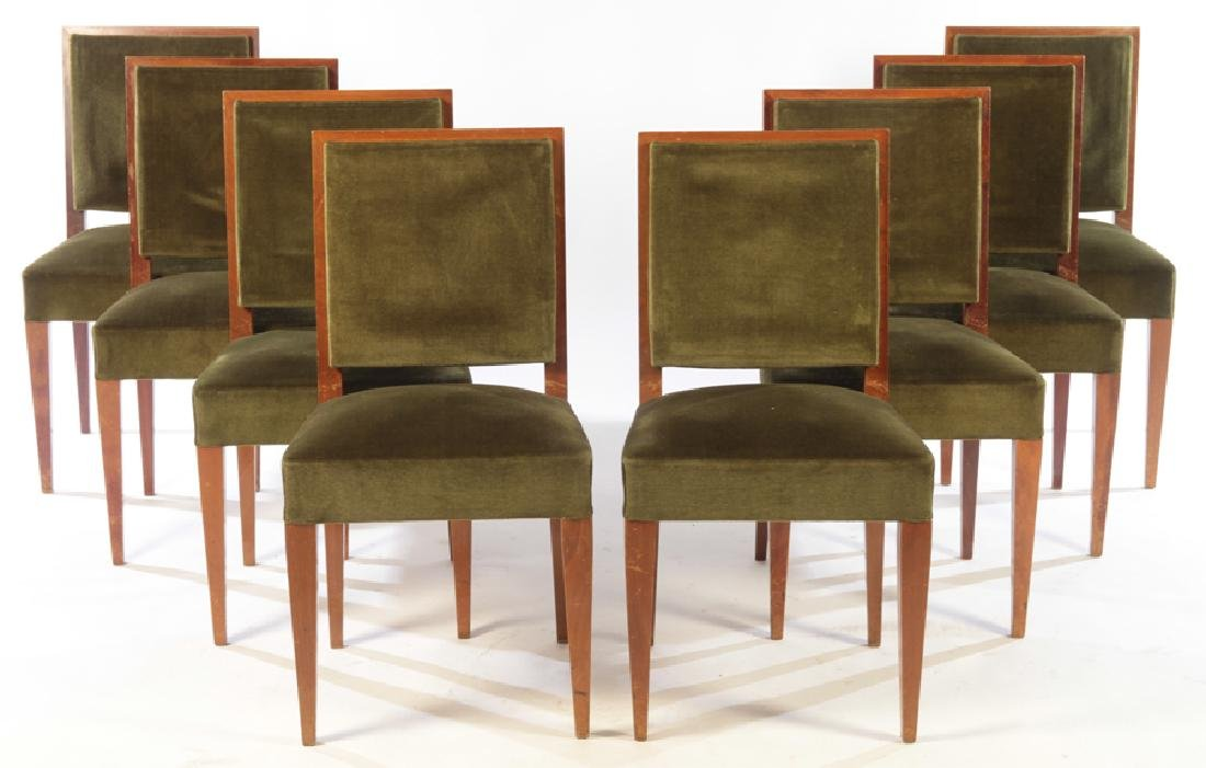 8 MID JEAN-MICHEL FRANK STYLE DINING CHAIRS 1950