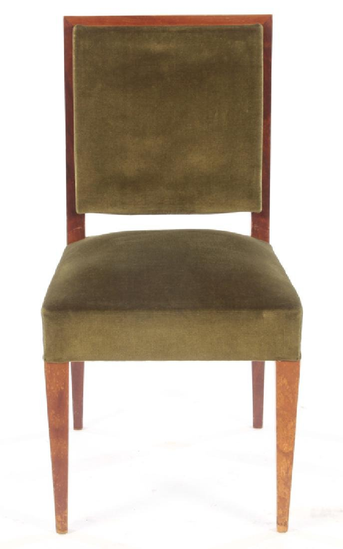 8 MID JEAN-MICHEL FRANK STYLE DINING CHAIRS 1950 - 3