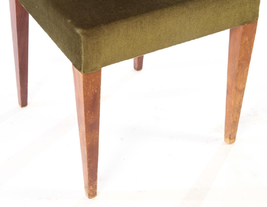 8 MID JEAN-MICHEL FRANK STYLE DINING CHAIRS 1950 - 5