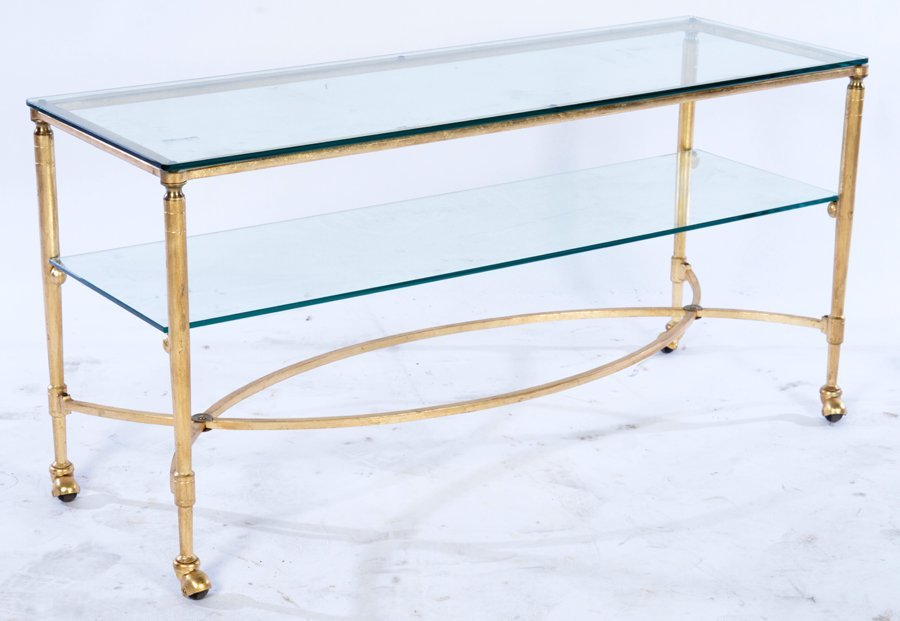 GILT IRON LOW TABLE REGENCY STYLE C.1950