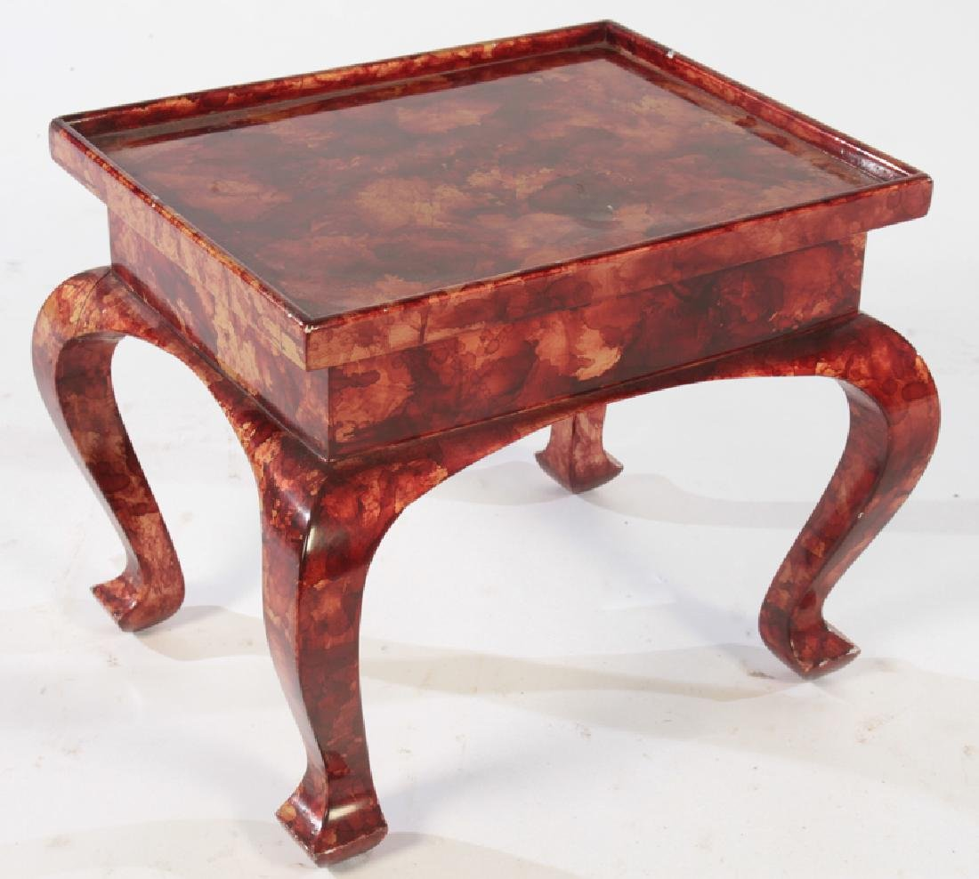 PAGODA FORM FAUX TORTOISE TABLE 1980 - 2