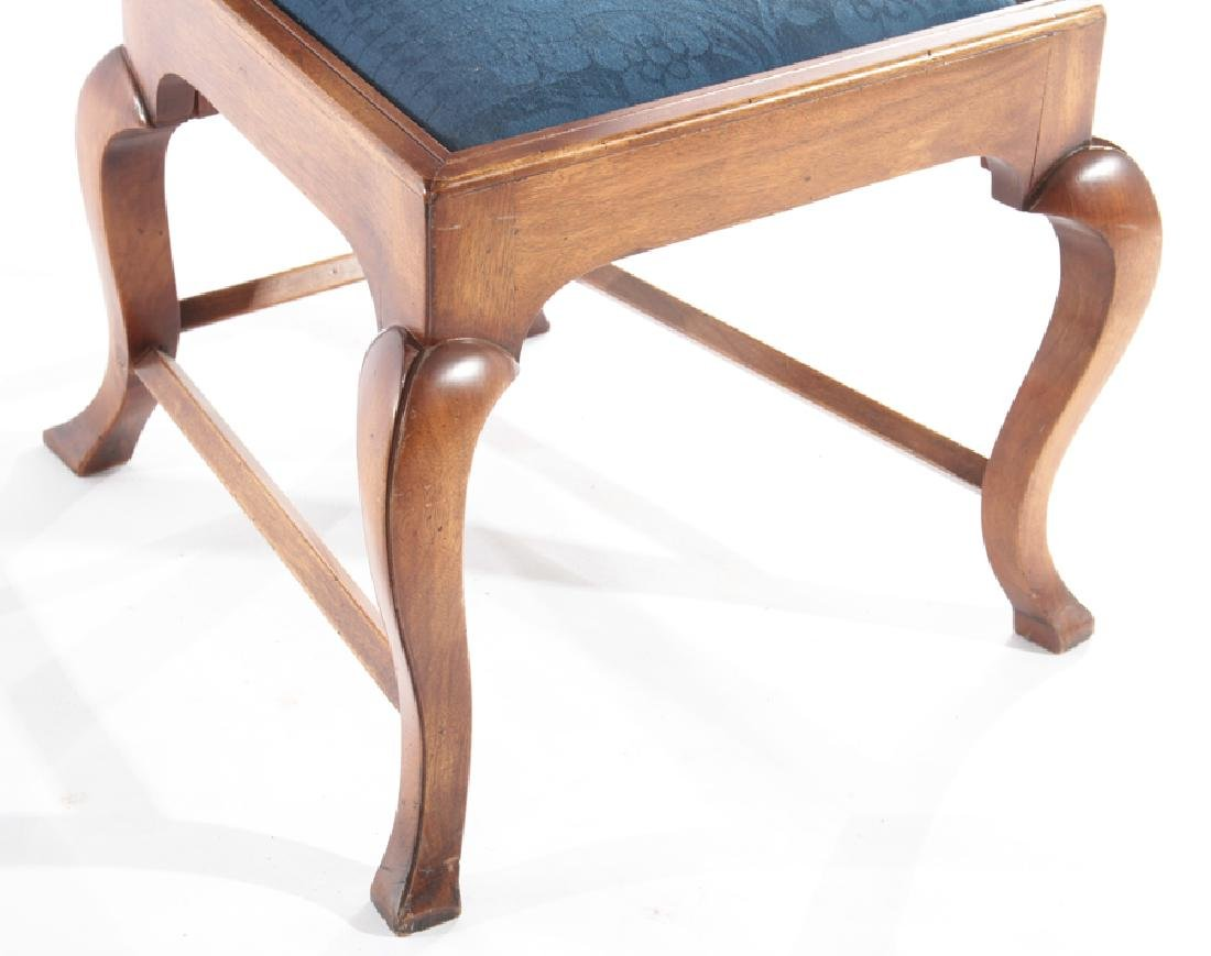 PAIR OF WALNUT SIDE CHAIRS TOMBSTONE BACK - 5