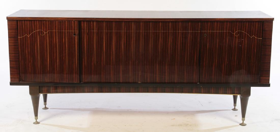FRENCH EBONY MACASSAR INLAID SIDEBOARD C.1950