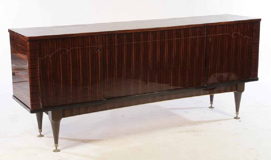 FRENCH EBONY MACASSAR INLAID SIDEBOARD C.1950 - 2