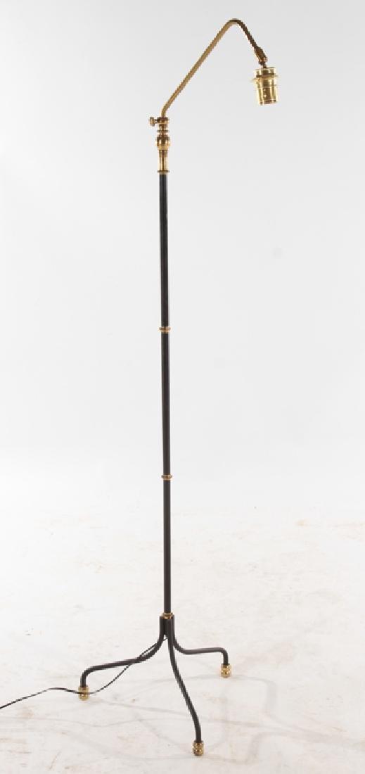 FRENCH BRASS FLOOR LAMP TRIPOD BASE C.1950