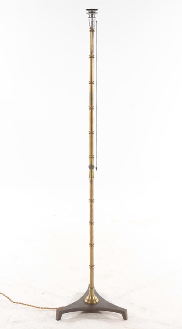 FRENCH FAUX BAMBOO BRONZE FLOOR LAMP C.1940