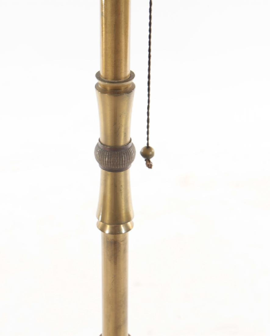 FRENCH FAUX BAMBOO BRONZE FLOOR LAMP C.1940 - 3