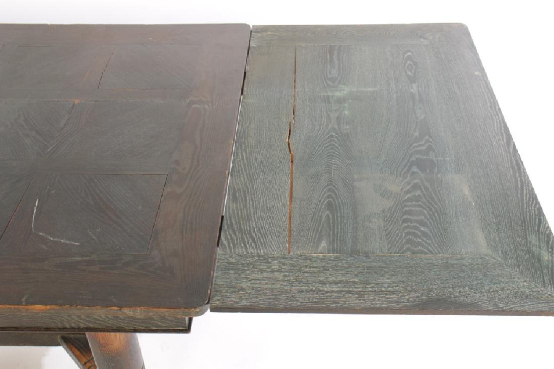 CERUSED OAK FRENCH DINING TABLE 2 LEAVES 1940 - 6