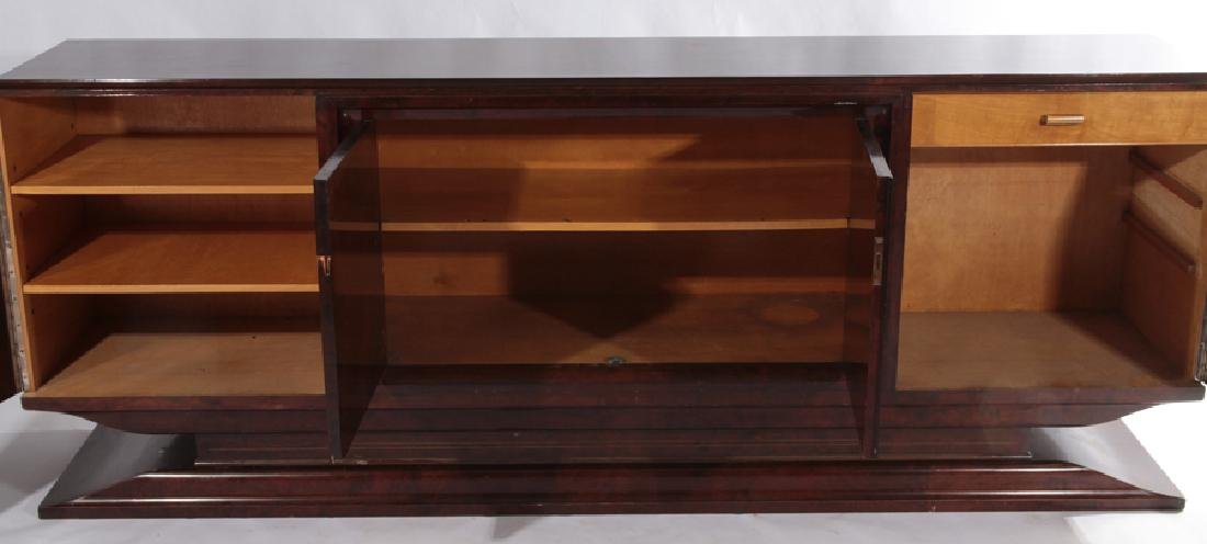 MAHOGANY BRASS INLAID ART DECO SIDEBOARD 1935 - 3