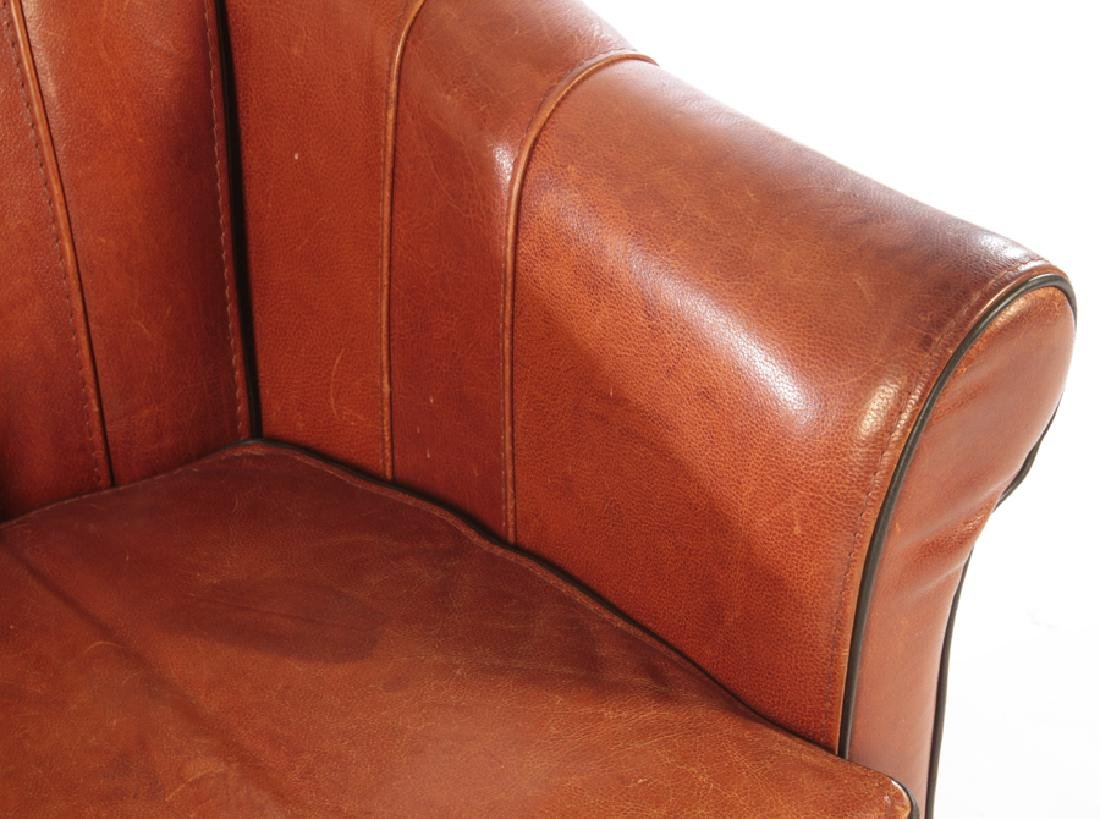 PAIR OF ART DECO FRENCH LEATHER CLUB CHAIRS C.1930 - 5