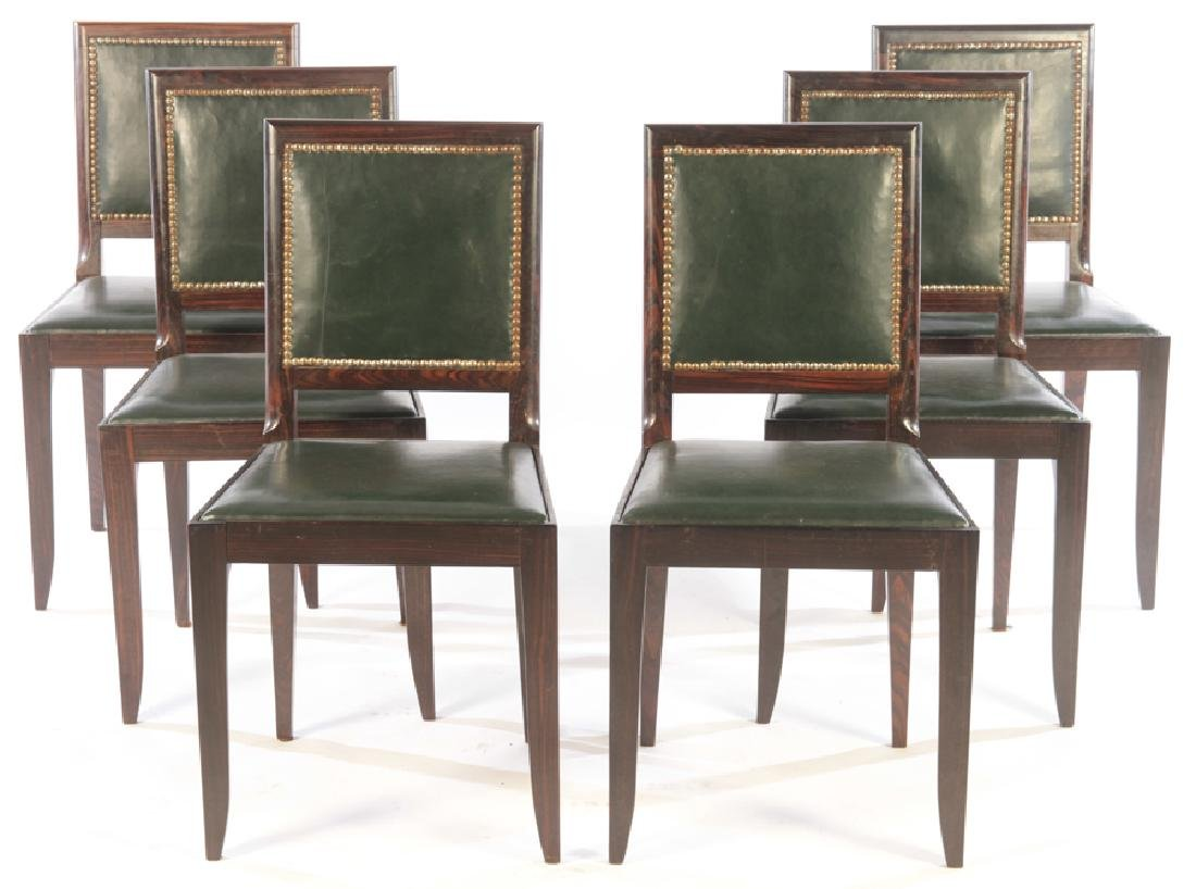 RARE SET 6 FRENCH ART DECO DINING CHAIRS 1935