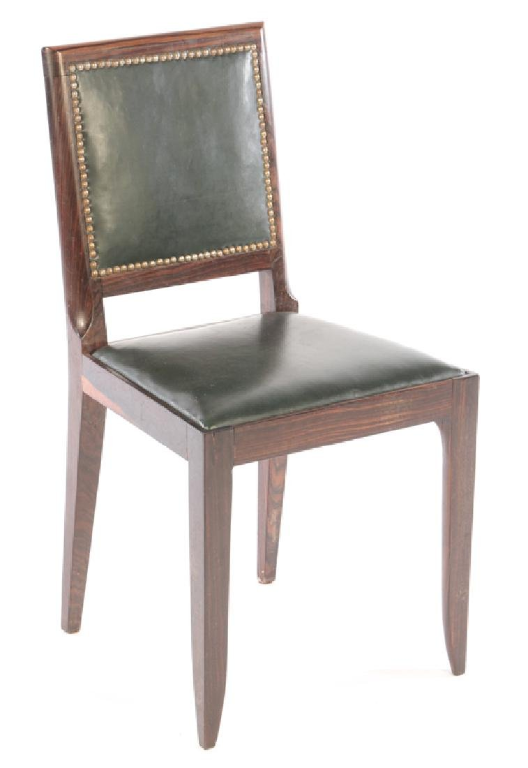 RARE SET 6 FRENCH ART DECO DINING CHAIRS 1935 - 2
