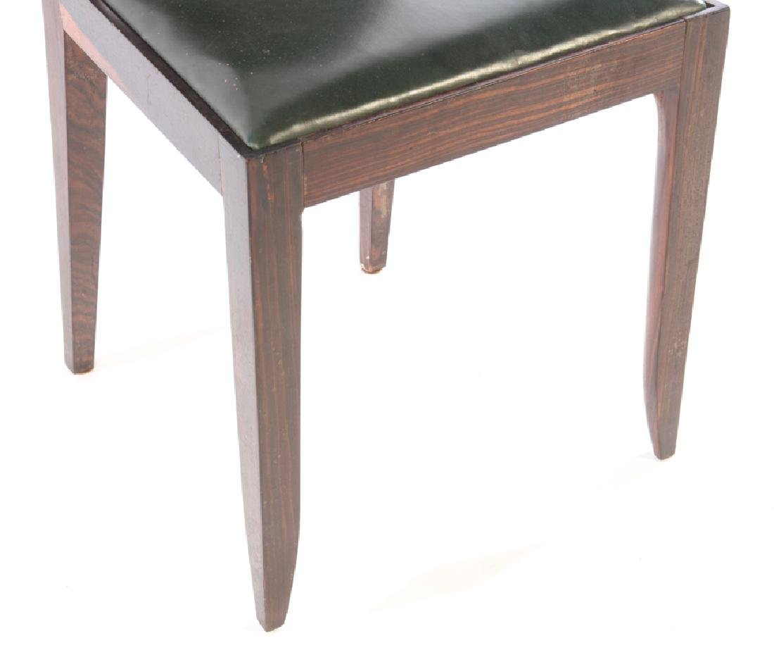 RARE SET 6 FRENCH ART DECO DINING CHAIRS 1935 - 5