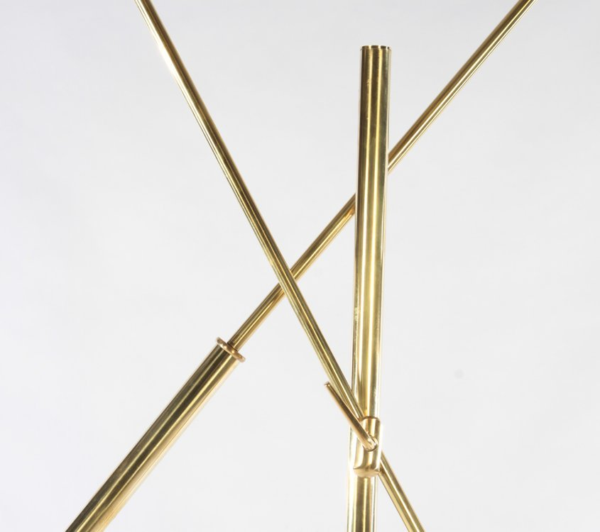 PAIR ITALIAN BRASS ADJUSTABLE FLOOR LAMPS - 6
