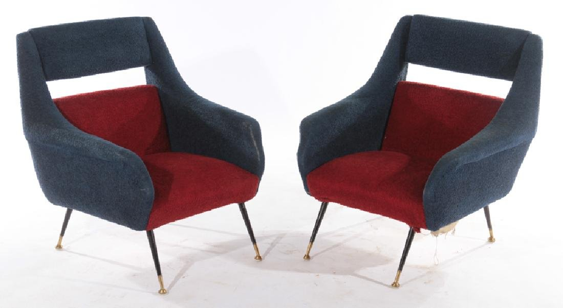 PAIR OF ITALIAN GIGI RADICE CLUB CHAIRS C.1960
