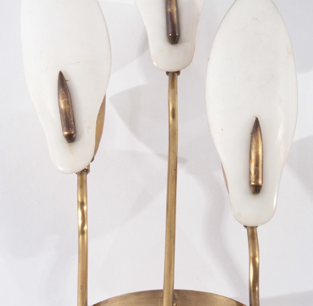 PAIR ITALIAN 3 ARM BRASS SCONCES CIRCA 1940 - 4