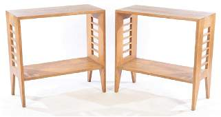 PAIR OF MID CENTURY MODERN CONSOLE TABLES C.1960