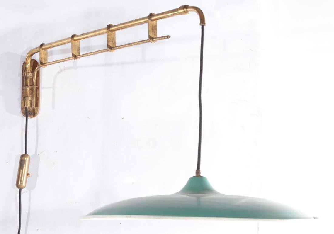 ITALIAN BRASS AND IRON WALL READING LIGHT C.1950