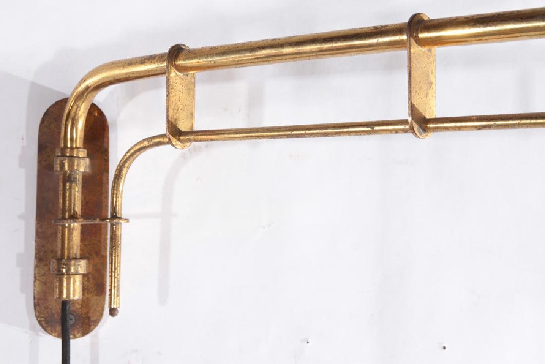 ITALIAN BRASS AND IRON WALL READING LIGHT C.1950 - 2