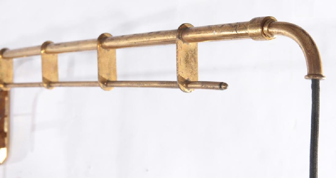 ITALIAN BRASS AND IRON WALL READING LIGHT C.1950 - 3