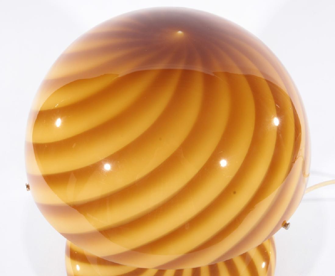 VETRI MURANO SWIRL GLASS MUSHROOM TABLE LAMP - 2