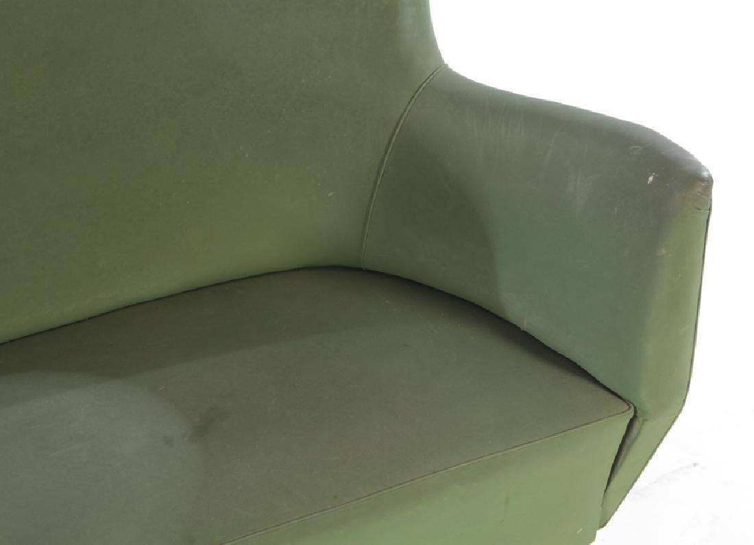 UPHOLSTERED ISA SETTEE BRONZE LEGS CIRCA 1950 - 3
