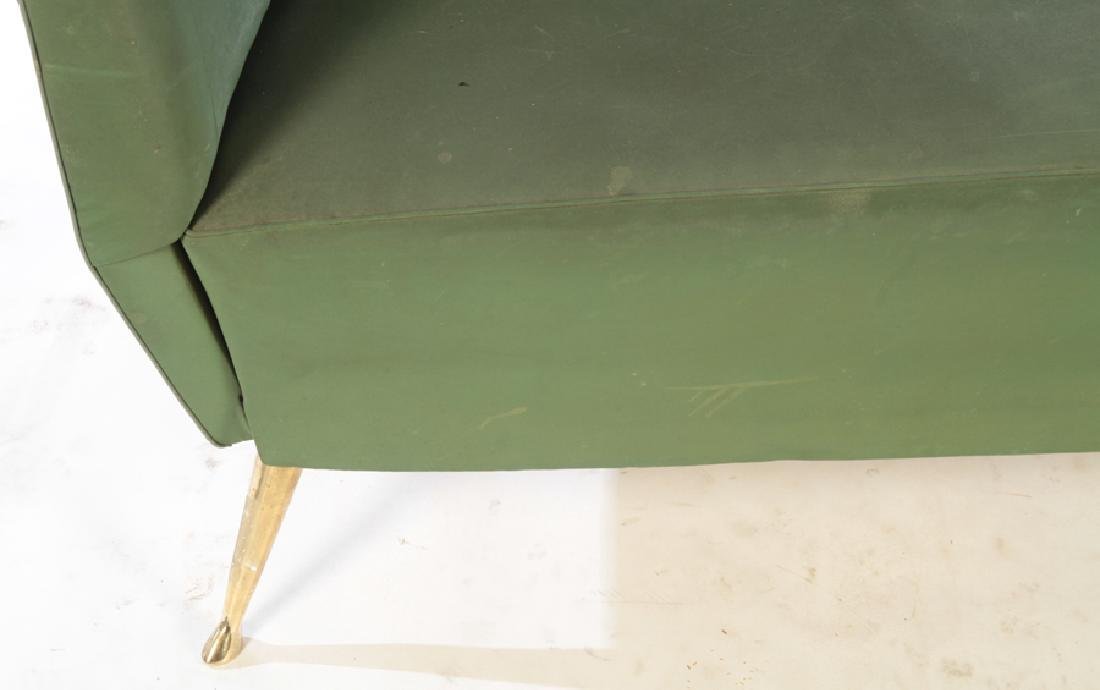 UPHOLSTERED ISA SETTEE BRONZE LEGS CIRCA 1950 - 4