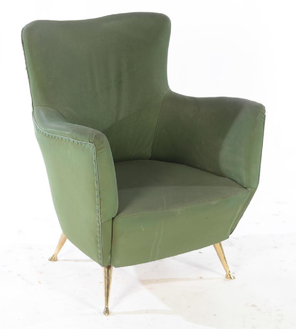 PAIR OF UPHOLSTERED ISA CLUB CHAIRS C. 1950 - 2