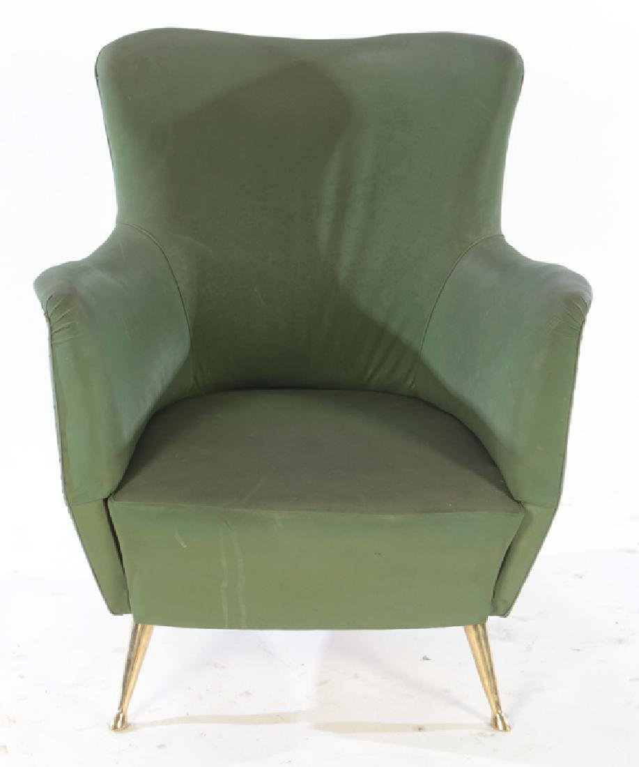PAIR OF UPHOLSTERED ISA CLUB CHAIRS C. 1950 - 3