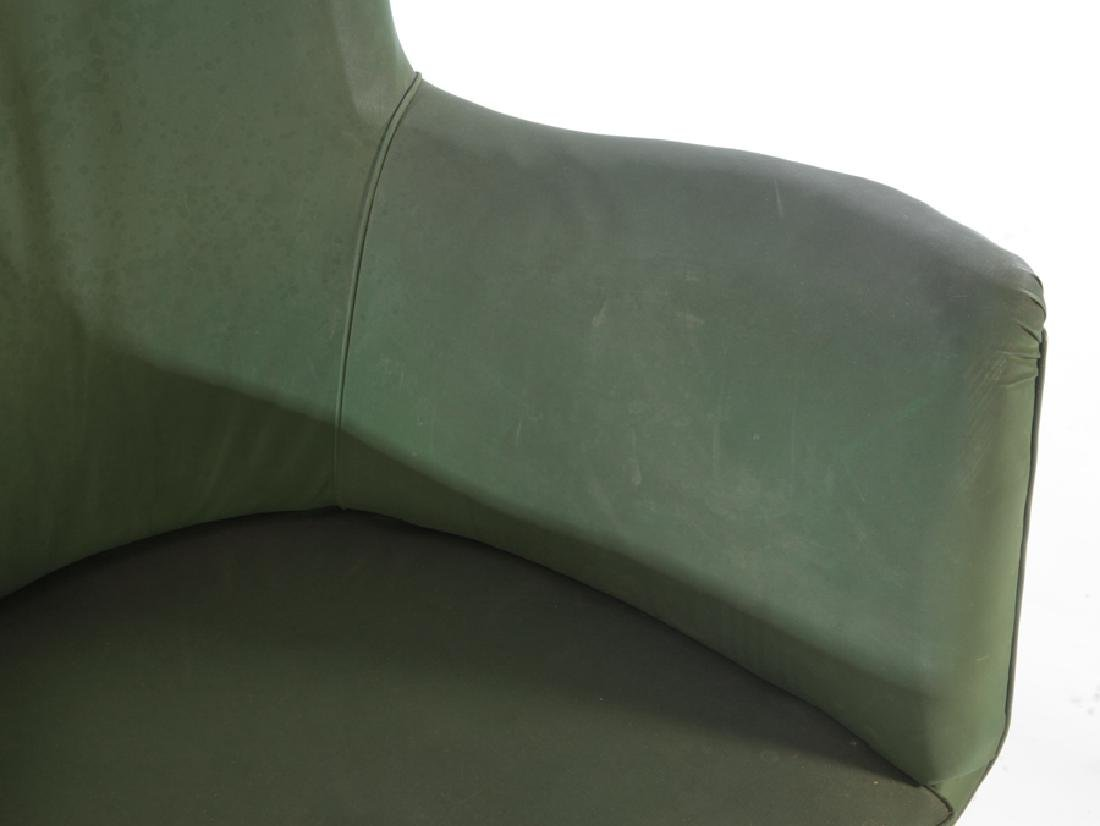 PAIR OF UPHOLSTERED ISA CLUB CHAIRS C. 1950 - 4
