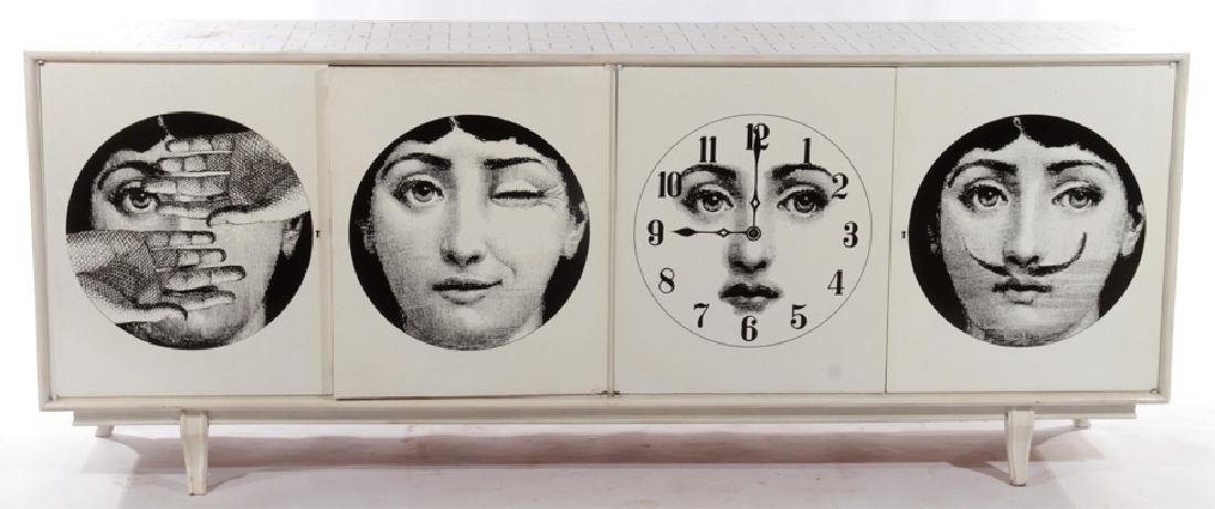 FORNASETTI STYLE PAINTED 4 DRAWER SIDEBOARD C1960