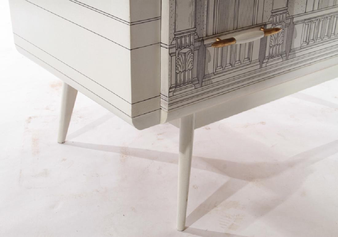 FORNASETTI STYLE PAINTED 3 DRAWER COMMODE 1960 - 6