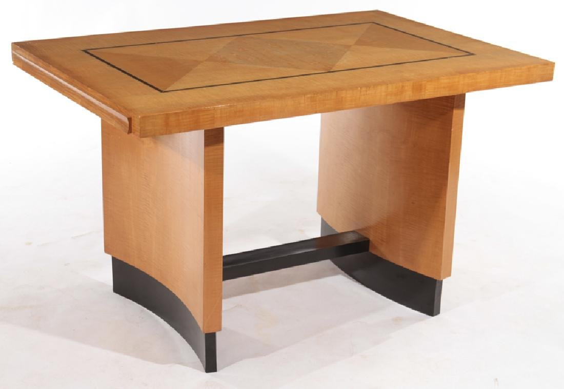 FRENCH MAPLE MODERN WRITING DESK C.1950