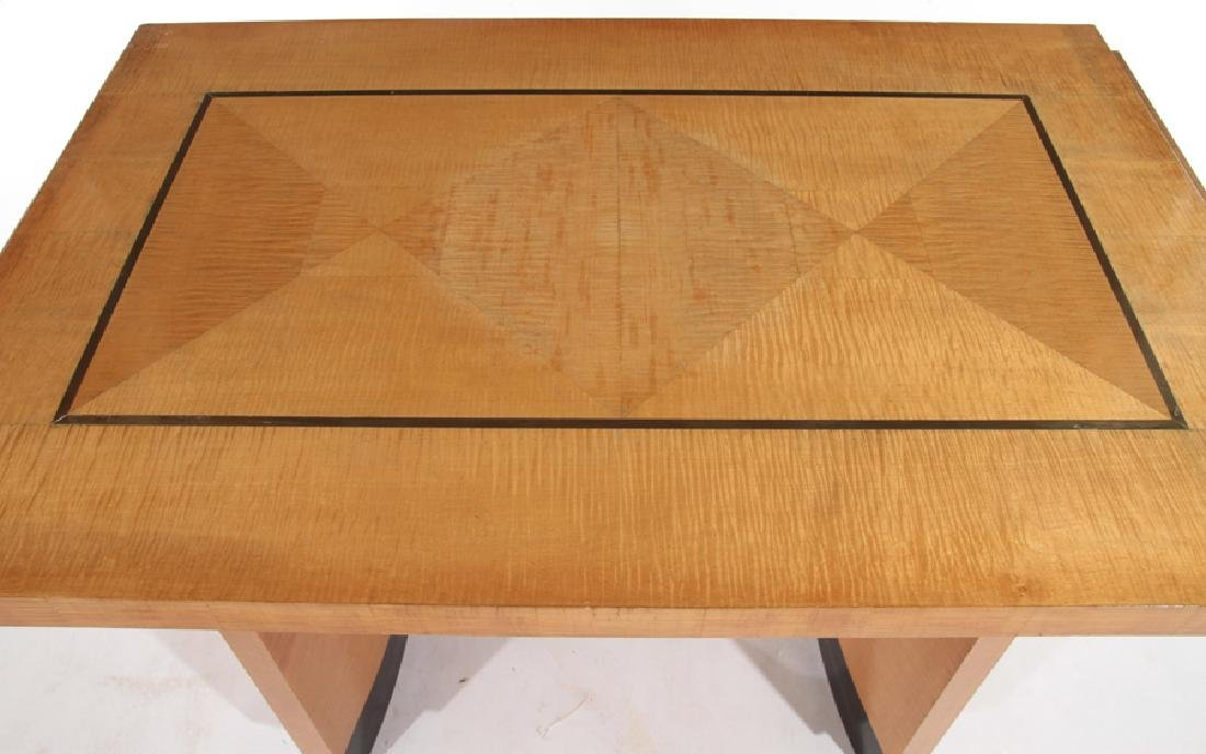 FRENCH MAPLE MODERN WRITING DESK C.1950 - 3