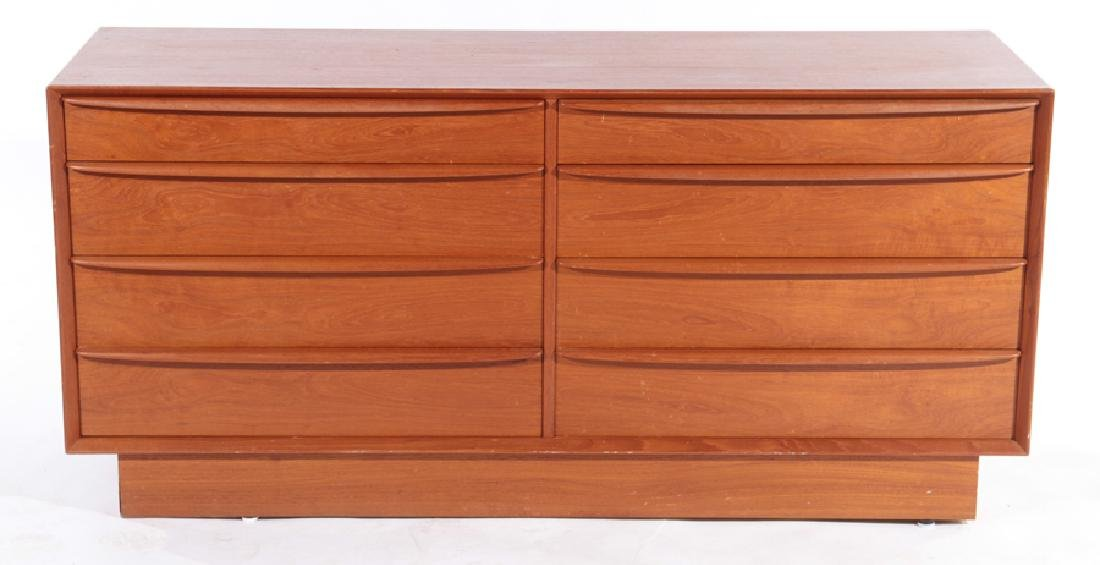 LABELED FALSTER DANISH WALNUT COMMODE AND CABINET - 2