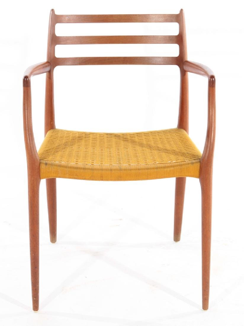 SET 8 LABELED L.MOLLER DINING WALNUT CHAIRS 1960 - 3